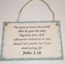 John 3:16 Christian Inspirational Sign For God So Loved The World Gave His Son