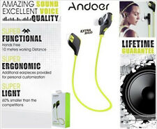 Andoer Bluetooth Headset Wireless Super Bass Earphone - Brand New - Genuine