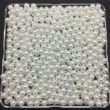Wholesale 200PCS 4mm White Acrylic Round Pearl Spacer Loose Beads Jewelry Making