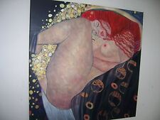 Klimt Danae 28x28 Oil Painting.NOT a print Framing avail Kiss Adele Lady in gold