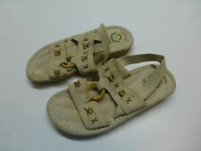 Earth Spirit Womens 6.5 Leather Beaded Sandals Great Condition