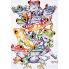 """Frog Pile Counted Cross Stitch Kit-11""""X16"""" 14 Count"""