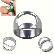 New Cool Men Stainless Steel Metal Finger Ring Beer Wine Bottle Opener Tool Hot