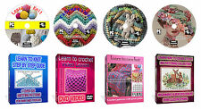 Learn How To Crochet, Knit, Cross Stitch +Over 3200 Patterns With Guide 4x DVD