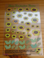 2 Sheets Of - Klever Konstruction - Mouldable Flowers - Sunflowers