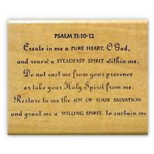 Create Pure Heart, Mounted rubber stamp Christian, Sweet Grass Stamps #6