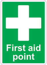 [ 205x290mm ] FIRST AID POINT | health and safety | signs/stickers | Medical