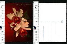 TEMATICA AUGURALE - BUON COMPLEANNO - VEDUTA DI DUE ORCHIDEE - 55586
