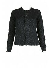NWT! $478  DIESEL BLACK GOLD WOMENS MATTEIS SWEATER CARDIGAN BLACK SMALL