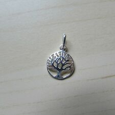 Sterling Silver (925) Round Tree Of Life Classic Filigree Charm/Pendant 12mm