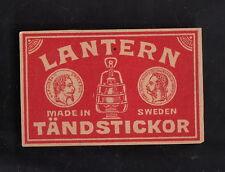 Ancienne étiquette Allumettes   Suède  BN10508 Lanterne