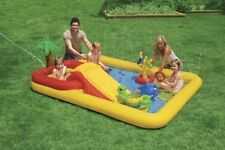 Inflatable Kiddie Pool Outdoor Back Yard Patio Swimming Fun Water Slide Kids