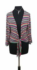 EAST Bolero Cardigan Size 14 Multi Coloured Stripes Designer Evening