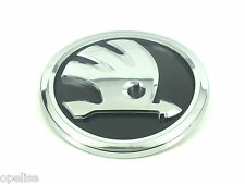 Genuine New Style SKODA BONNET BADGE Front Black Emblem For Fabia 2014+ TDI TSI