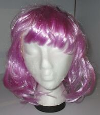 PINK w/blue WIG One Size Halloween Costume Monster High University Polka Dot Bow