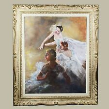 Hungarian American Artist Fried Pal signed O/Canvas Painting Ballerinas art work