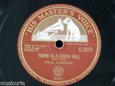 "78rpm 12"" PAUL ROBESON there is a green hill / nearer my god to thee"