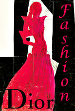 Art Ad Dior Fashion  Haute Couture Fashion  Chic Deco   Poster Print