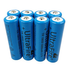 8 X 18650 5000mAh 3.7V Li-ion Rechargeable Battery for UltraFire Flashlight