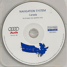 2002 2003 2004 Audi A4 A6 Allroad D-Type Navigation CD #10 Cover Canada Map