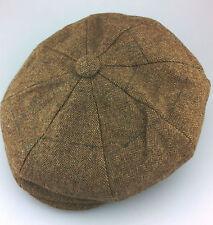 Calidad 8 Pieza botón noticiero gorra de lana mezcla marrón (58-59cm) and XL (60-61cm)
