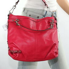 NWT COACH LEATHER BROOKE SHOULDER HAND BAG HOBO SATCHEL  Z27744 RED RARE NEW