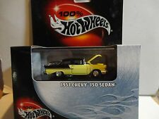 Hot Wheels 100% Black Box Black/Yellow 1957 Chevy 150 Sedan
