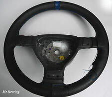 FOR VOLVO 940 1990-1998 REAL PERFORATED LEATHER STEERING WHEEL COVER+ BLUE STRAP