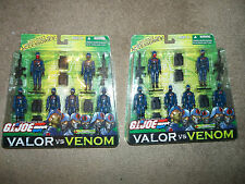 GI Joe Valor Vs Venom x2 Cobra Infantry Forces 6 Pack 2004 squad leader mip moc