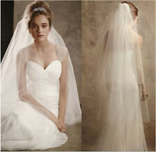 Off-White 2 Layer Fingertip Length Bridal Veil (Sparkle-2533-OW)