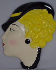 LARGE Moorland Pottery ART DECO Wall Face Mask