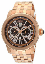 Invicta Watch 14591 Men's Specialty Black Dial 18K Rose Gold Pl Stainless $595