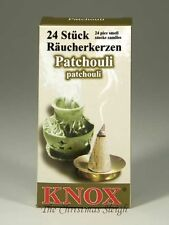 KNOX German Incense for Smoker Rauchermann Raucherkerzen Patchouli Scent 2 BOXES