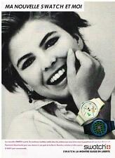 PUBLICITE ADVERTISING   1986   SWATCH  collection montres