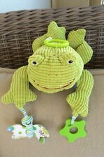 """Maison chic Corduroy Frog Stroller Toy 10"""""""