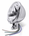 """H4 KLARGLAS SCHEINWERFER LAMPE 5 3/4"""" ZOLL CHROM BATES für Bobber Chopper Harley"""