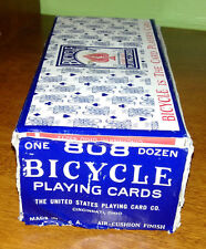 1 Original Box (12 packs) NOS Sealed Vintage Bicycle 808 Rider Back Playing Card