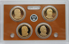 2012 Presidential Dollar Coin Proof 4 Golden Dollars No Box Four President