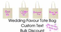 Personalised Wedding Favour Tote Bag cotton Printed Gift Present Keep Hen Party