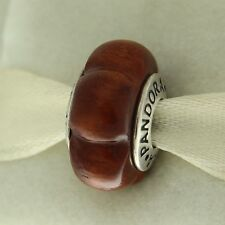 Authentic Pandora 790713 Muiracataria Carved Wood Sterling Silver Bead Charm