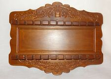 Wooden Spoon Display Rack Holder Case Wood Wall Holds 22 Collector Spoons Flower