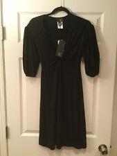 Just Cavalli Black V-neck Dress, Size 4 (US) 40 (IT), NWT! $390