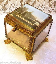 SCATOLINA SCRIGNO ANTICO PORTAGIOIE Montaigu Antique Jewelry Casket Glass Box