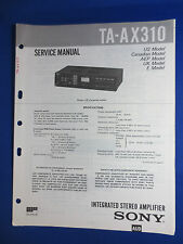 SONY TA-AX310 INTEGRATED AMPLIFIER SERVICE MANUAL FACTORY ORIGINAL