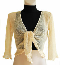 LADIES CROP SHRUG / BOLERO TOP  LIGHT WEIGHT KNIT CREASE  PROOF  MANY COLOURS