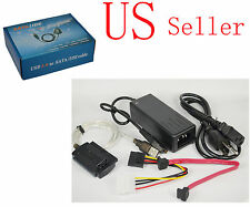 "USB 2.0 to SATA IDE 2.5"" 3.5"" External Adapter Transfer Cable Kit DVD Hard Disk"