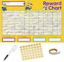 Minions Behaviour Reward Reusable Chart (A4 FREE~Stickers Pen Adhesive Pads)