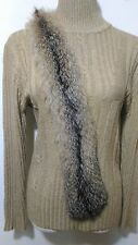 new design 100% real arctic Iceland silver brown fox  fur scarf