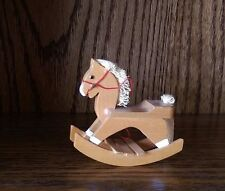 Town Square Dollhouse Miniature Rocking Horse (GONE TILL 6-13-16)