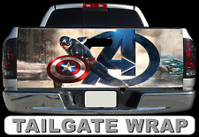 T257 CAPTAIN AMERICA Tailgate Wrap Decal Sticker Vinyl Graphic Bed Cover
